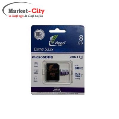 Vicco man 8GB Class 10 microSDHC 533X U1 Memory Card