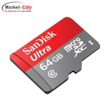 رم میکرو سن دیسک microSDXC 64GB UHS-I Card with Adapter